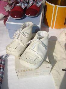 Petits chaussons vintage Marque L'OURSON POINTURE 20