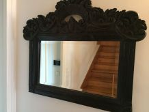 miroir ancien en bois massif