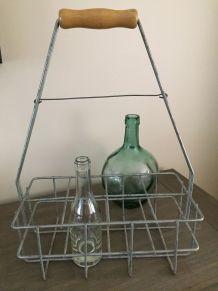 Porte-bouteilles métal vintage