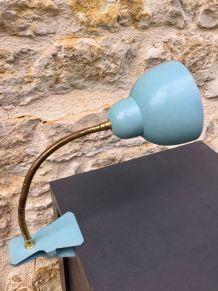 Lampe cocotte à pince, tige col de cygne flexible