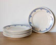 8 assiettes plates anciennes