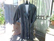 Manteau de cuir  noir