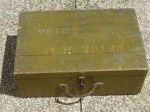 valise  en  bois  ancienne , vintage