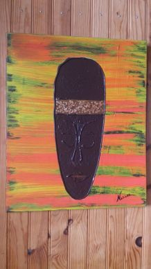 "Tableau  ""Masque  Africain """