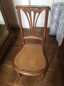 Chaise Art Nouveau bois