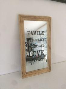cadre miroir familly