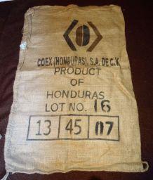 SAC TOILE DE JUTE INDIENNE HONDURAS