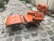 Eames lounge chair et ottoman - TAN/ Palissandre -