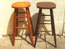 lot de 2 tabourets de bar en bois