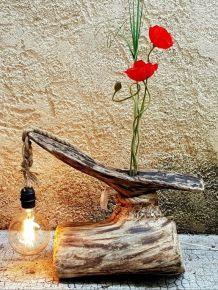lampe artisanale soliflore