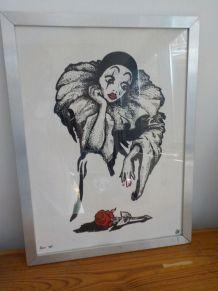 Cadre Pierrot Vintage