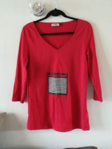 Tee-shirt de grossesse rouge