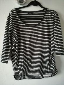 Tee-shirt de grossesse rayé