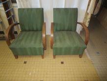 paire de fauteuils bridge années 40/50