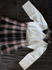 Ensemble chemise+jupe enfant fille