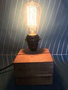 Lampe à poser Bois de Palette