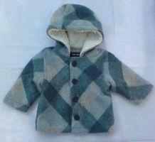 Manteau neuf chaud en laine mixte 9 mois