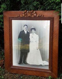 Ancien grand cadre photos + photographie annee 30