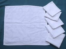lot de 6 serviettes de table, vintage