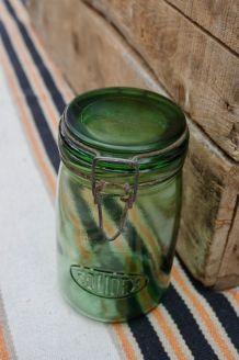 Bocal ancien Solidex  vert foncé 1 litre