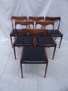 6 chaises scandinaves années 50