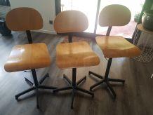 Chaise d'atelier / Labo - Meuble industriel - Loft