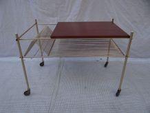 Table porte vinyles années 50