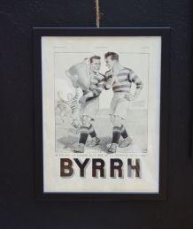 Publicité encadrée BYRRH Foot années 30