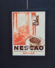 Publicité encadrée NESCAO années 30