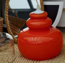 Lustre seventies opaline orange