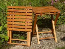 lot de 2 tabourets pliables en bois