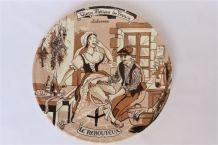 """Assiette de décoration humoristique - """"Vieux métiers""""."""