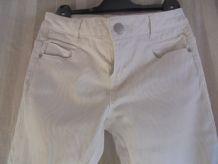 pantalon slim blanc , zébré