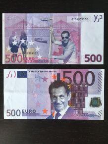 2 billets factices Nicolas Sarkozy 500 €