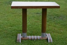Table bistrot vintage - années 40/50 - bois/formica