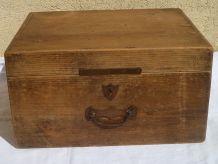 boite  en  bois  ancienne  année  1950-1960