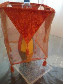 abat jour orange style oriental