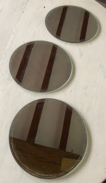 Miroirs ronds X3 bords pailletés