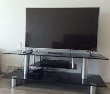 Meuble TV en verre trempé