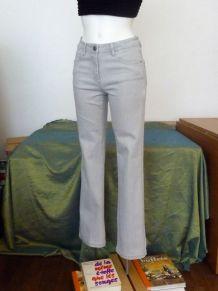 Pantalon Droit En 75% Coton Gris Clair - Taille 36- Burton