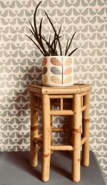 Petite table /sellette / guéridon en bambou