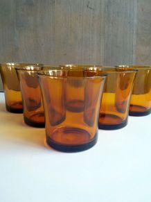 Ensemble de 6 verres DURALEX vintage