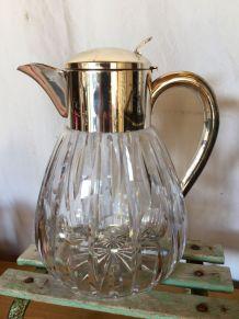 Broc carafe verseuse  rafraîchissoir vintage en verre