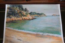 Lot de 2 sets de table d'après pastel paysage breton