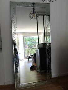 Grand miroir rectangulaire style vénicien