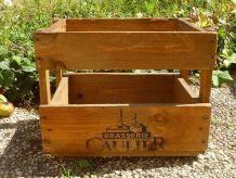 caisse en bois de la brasserie CAULIER