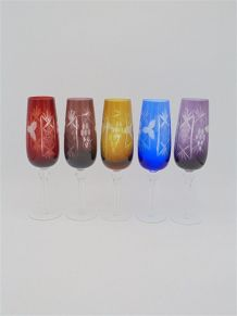 Ensemble de 5 flûtes à champagne