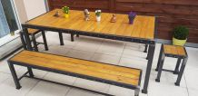 Ensemble table industrielle