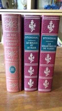 3 livres reliés simili cuir