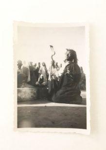 Photo vintage Marrakech charmeur de serpents 30's